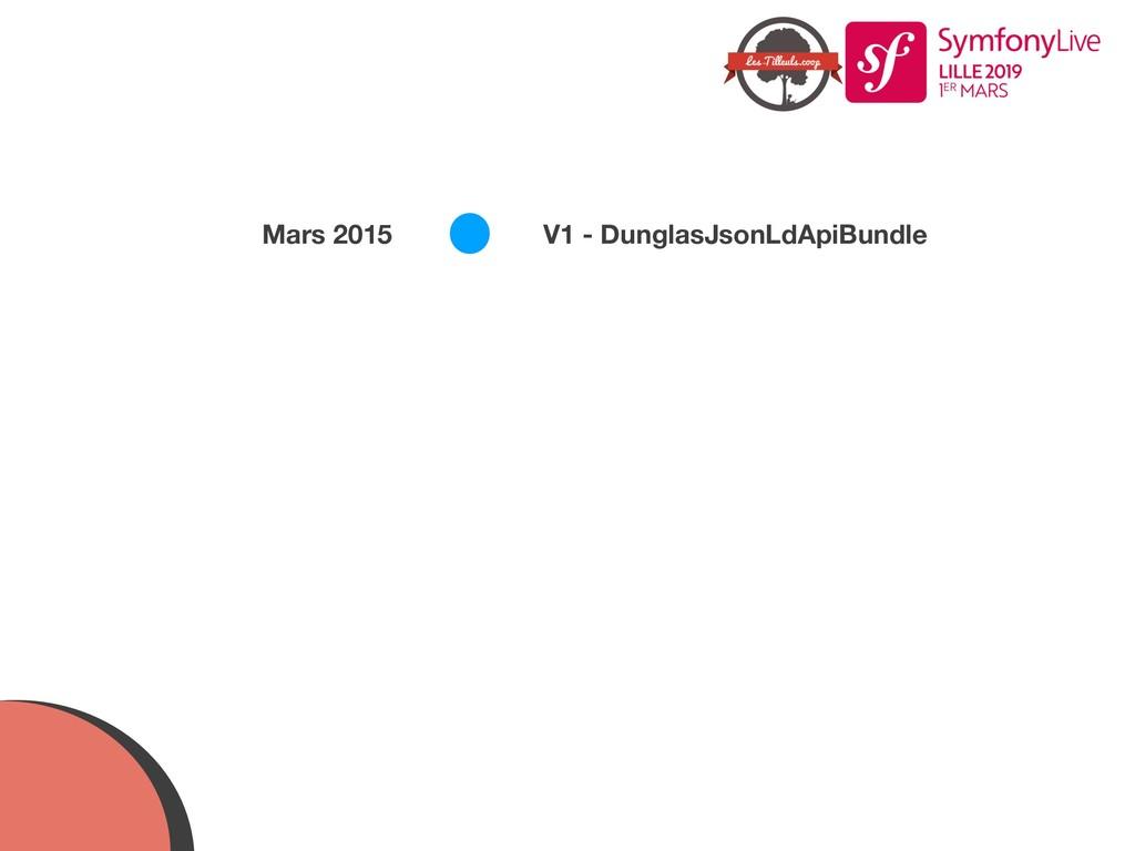 V1 - DunglasJsonLdApiBundle Mars 2015
