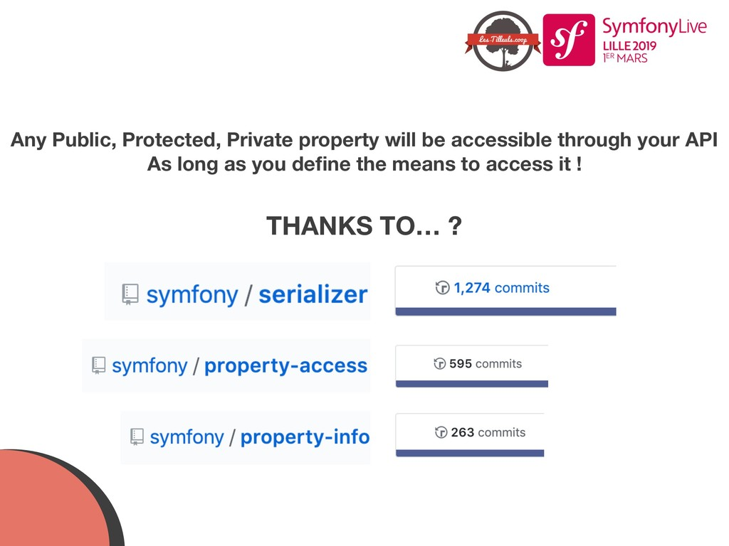 Any Public, Protected, Private property will be...