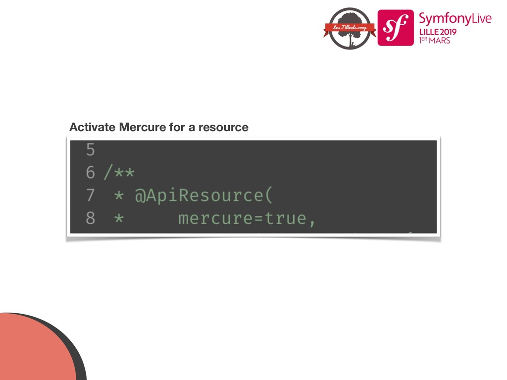 Activate Mercure for a resource