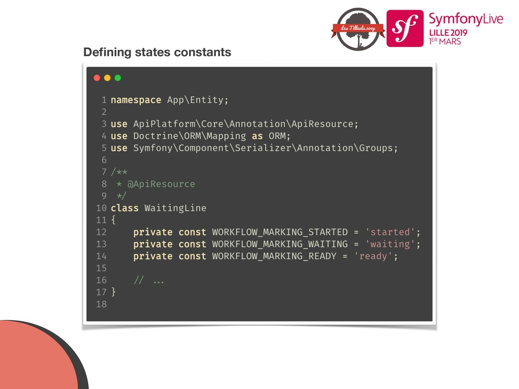 Defining states constants