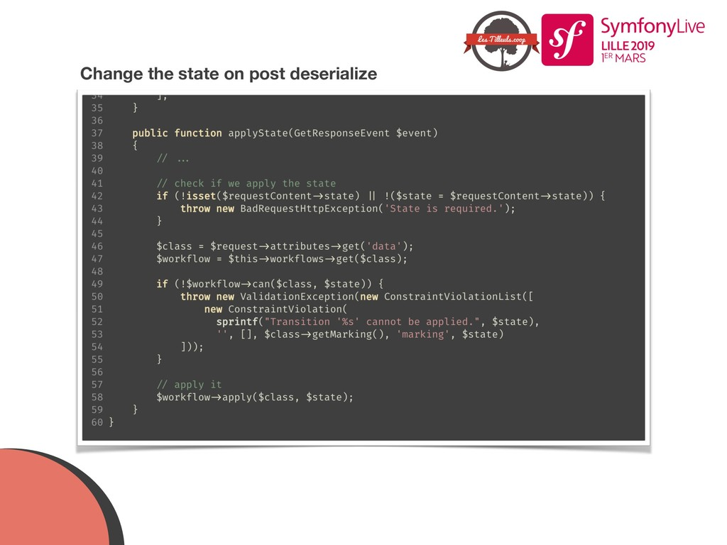 Change the state on post deserialize