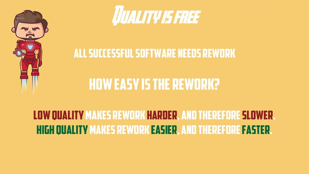 Quality is free All successful software needs r...