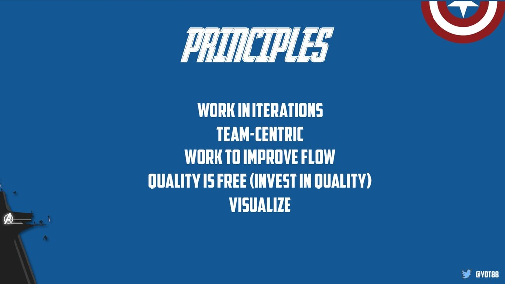 @yot88 PRINCIPLES Work in iterations Team-centr...