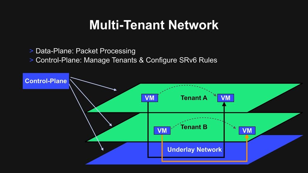 Multi-Tenant Network Underlay Network Tenant B ...