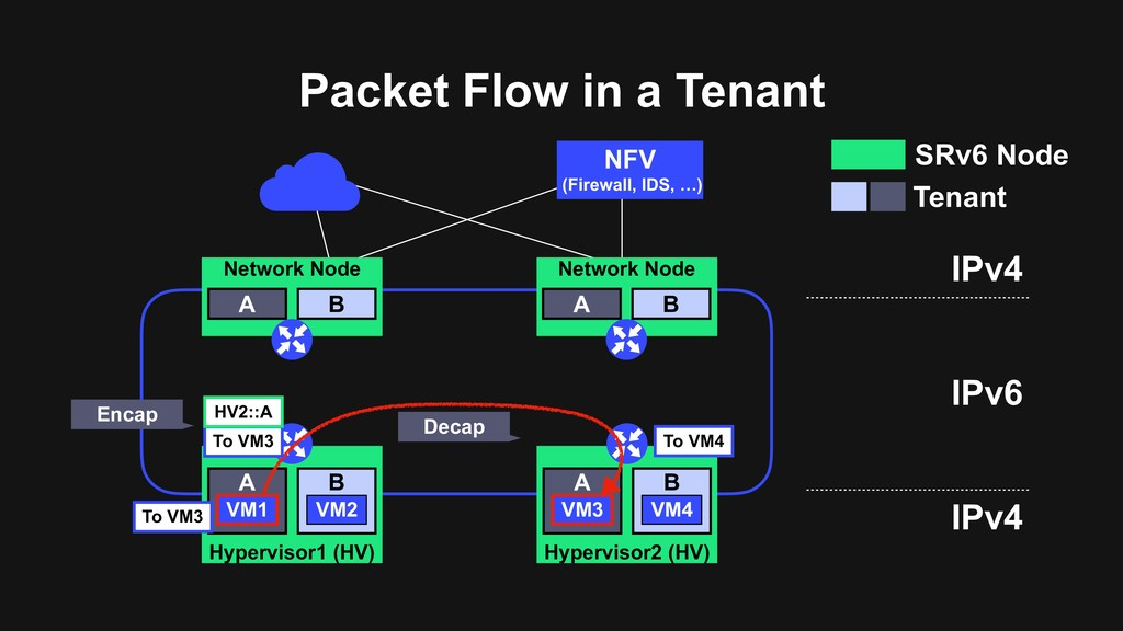 Packet Flow in a Tenant NFV (Firewall, IDS, …) ...