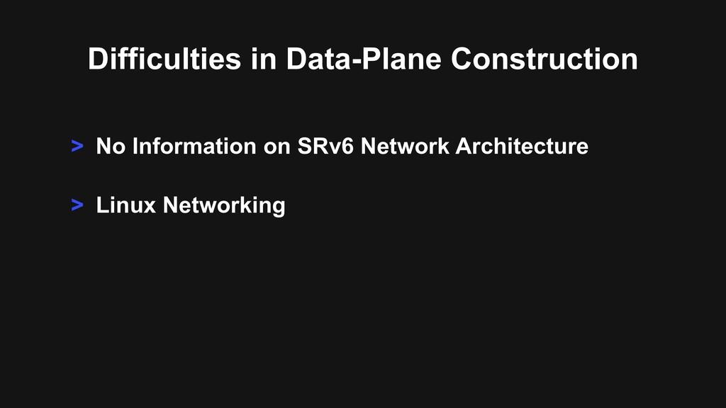 > No Information on SRv6 Network Architecture >...