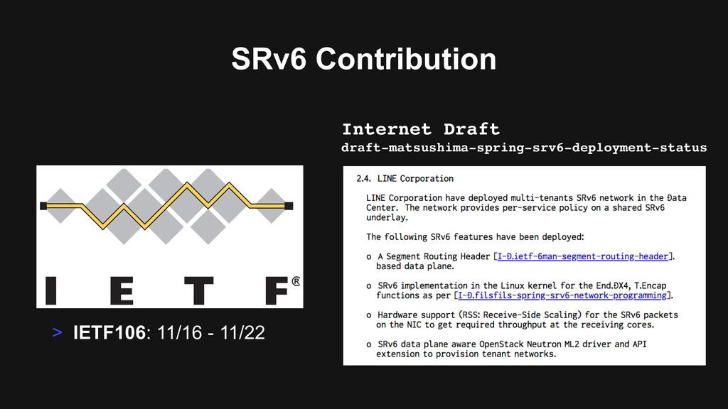 SRv6 Contribution Internet Draft draft-matsushi...