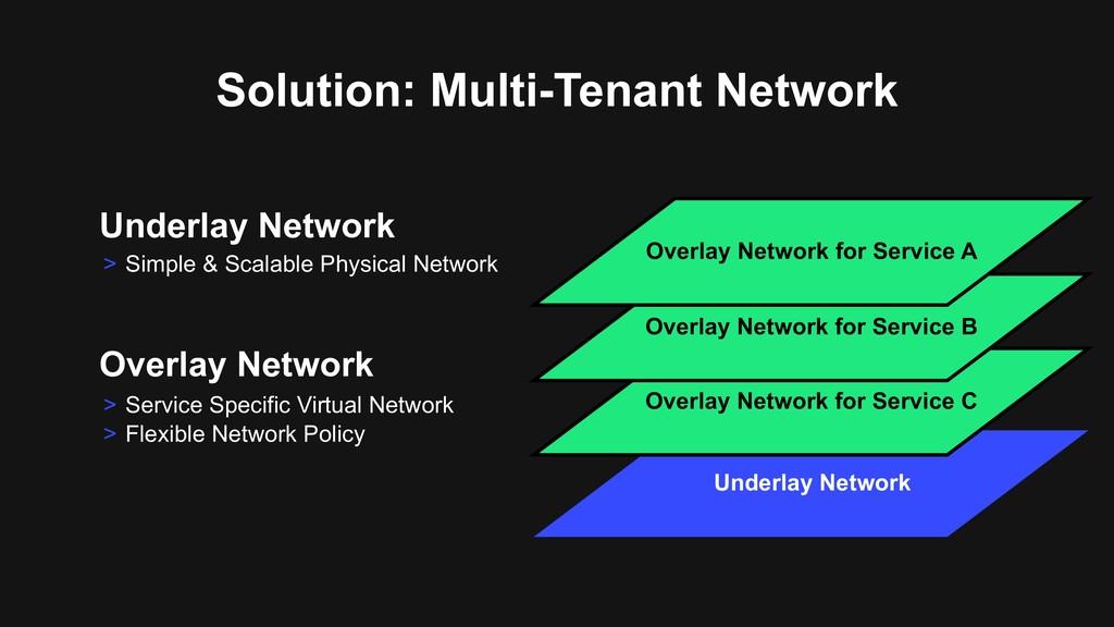 Solution: Multi-Tenant Network Underlay Network...