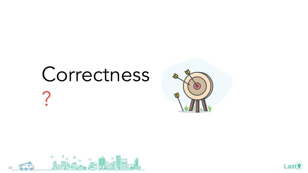 Correctness ? 14