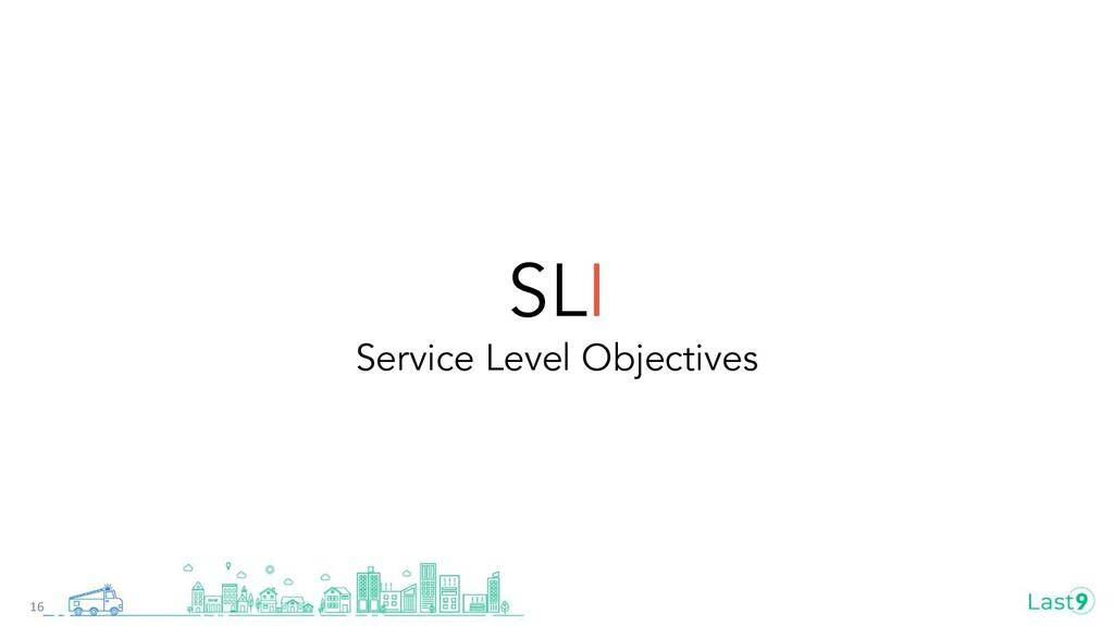 SLI Service Level Objectives 16