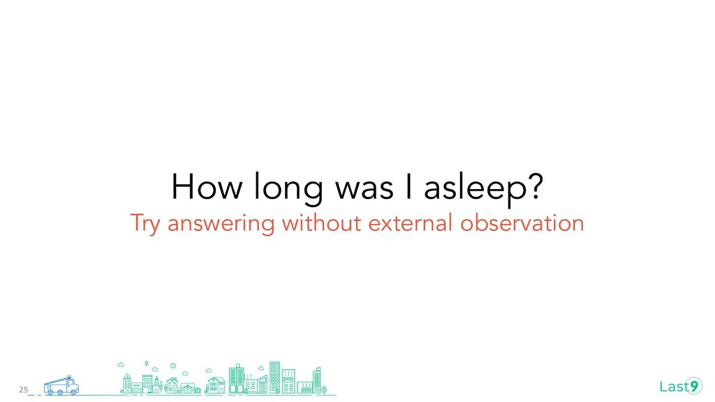 How long was I asleep? Try answering without ex...