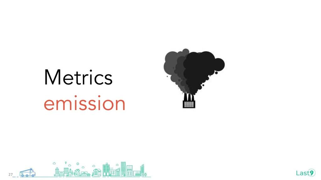 Metrics emission 27