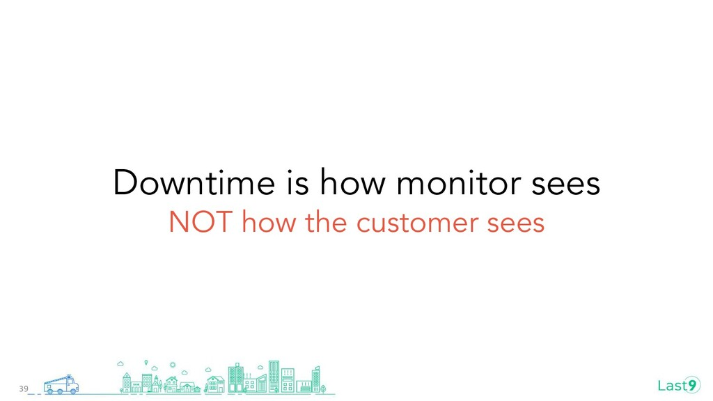 39 Downtime is how monitor sees NOT how the cus...