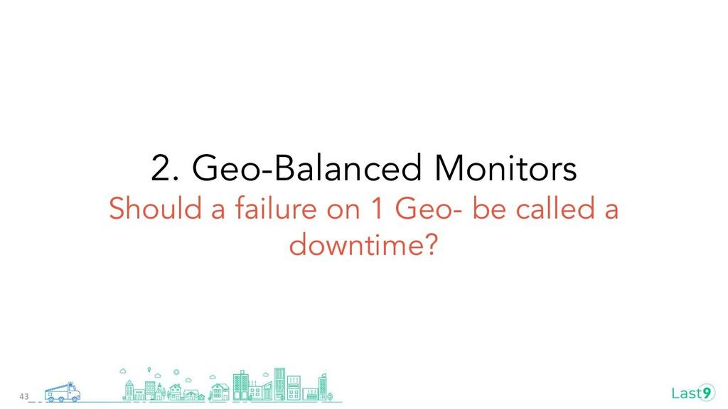 2. Geo-Balanced Monitors Should a failure on 1 ...