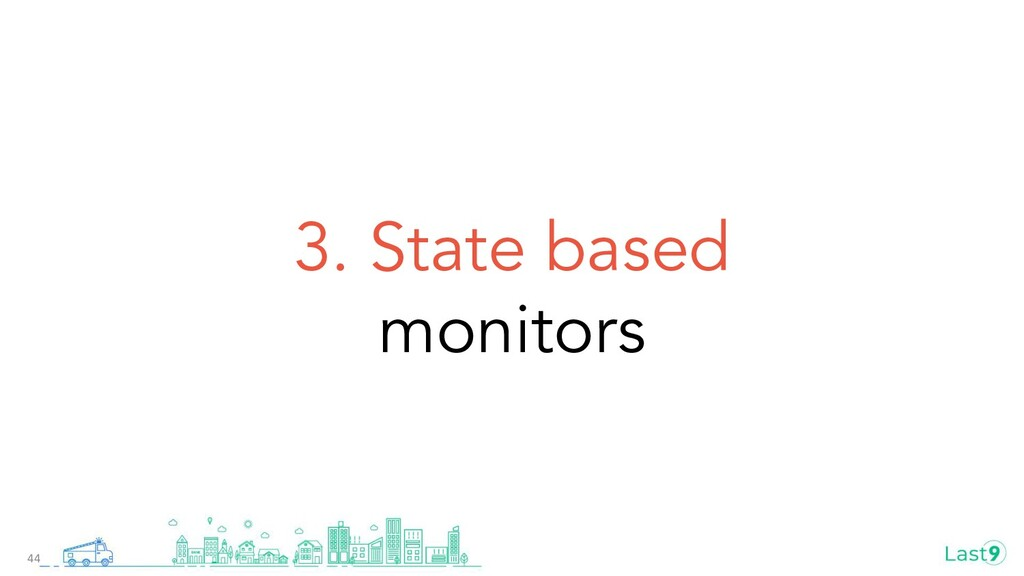 3. State based monitors 44
