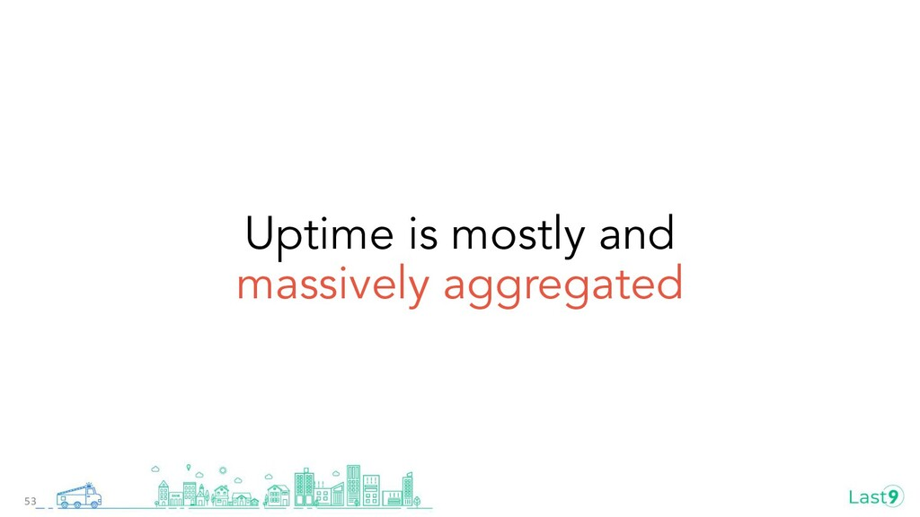 Uptime is mostly and massively aggregated 53