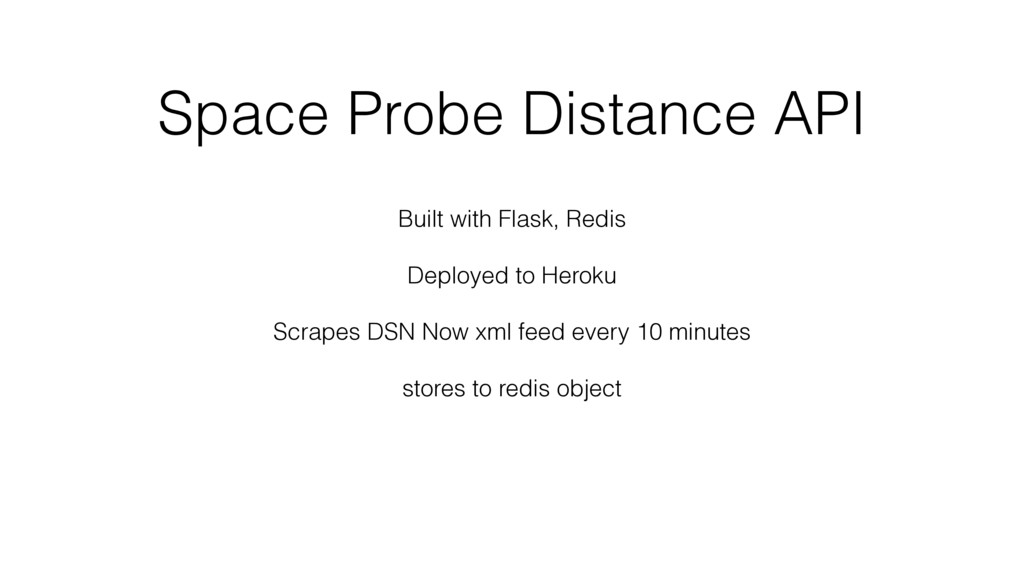 Space Probe Distance API Built with Flask, Redi...