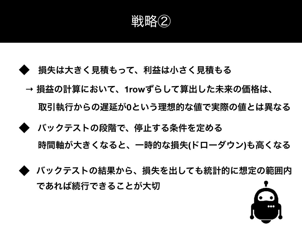 γεςϜͷߏஙྫ ઓུᶄ ଛࣦେ͖͘ݟੵͬͯɺརӹখ͘͞ݟੵΔ → ଛӹͷܭʹ͓͍ͯ...