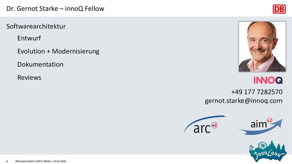 Dr. Gernot Starke – innoQ Fellow Softwarearchit...