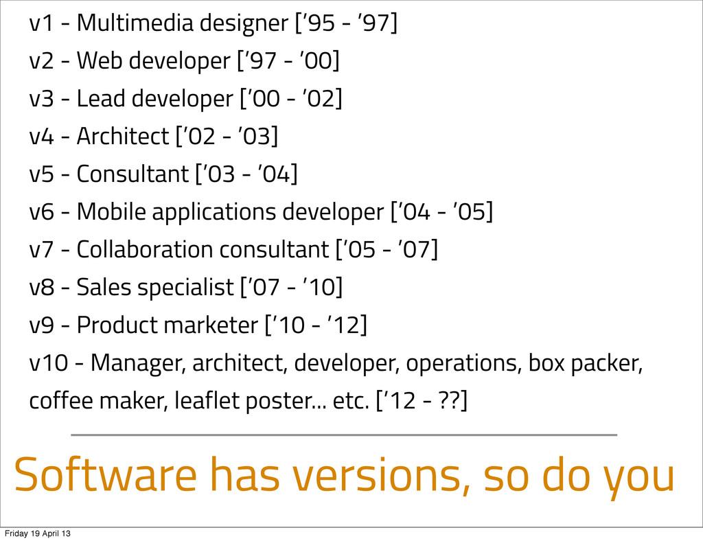 Software has versions, so do you v1 - Multimedi...