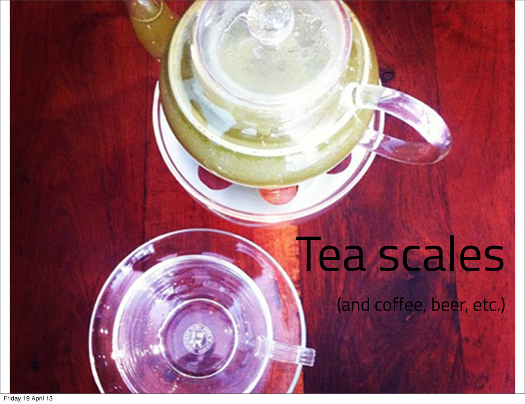 Tea scales (and coffee, beer, etc.) Friday 19 A...