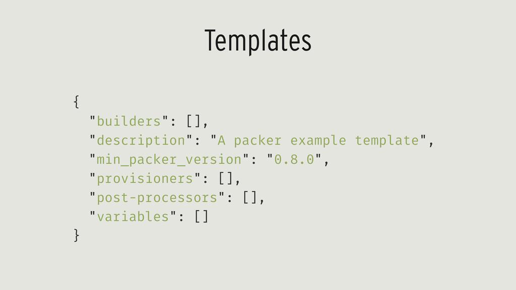 """Templates { """"builders"""": [], """"description"""": """"A p..."""