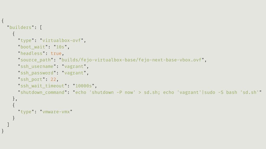 "{ ""builders"": [ { ""type"": ""virtualbox-ovf"", ""bo..."