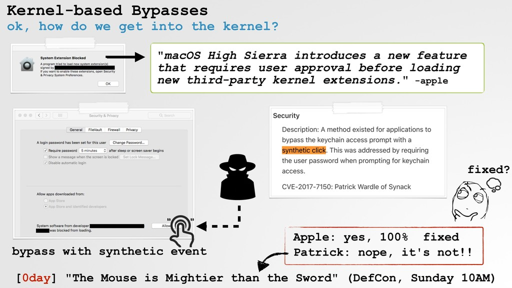 Kernel-based Bypasses ok, how do we get into th...