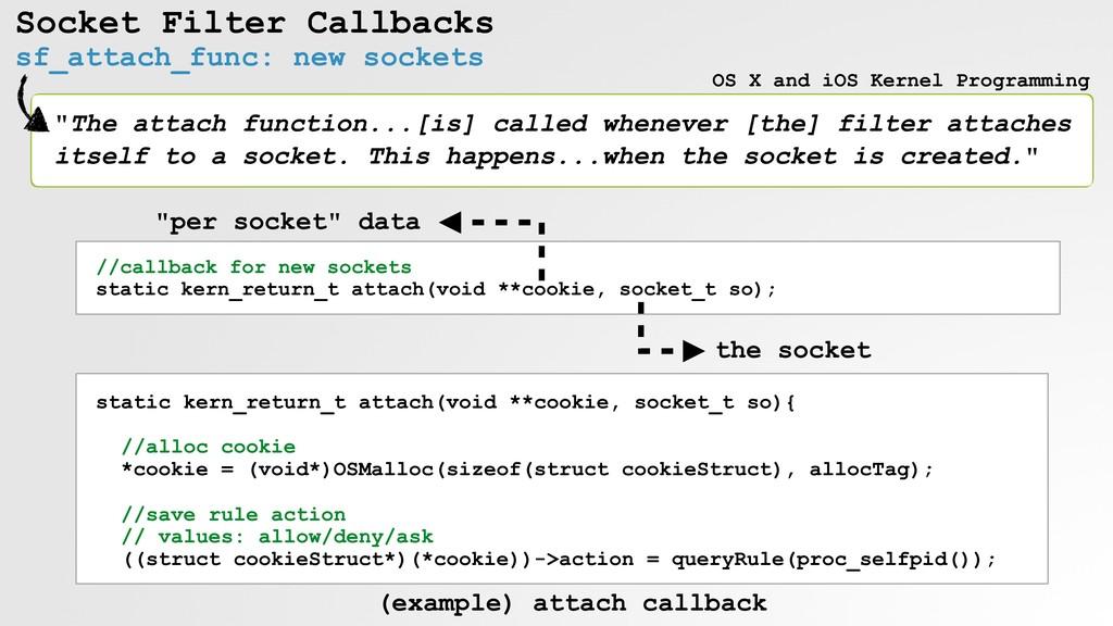 Socket Filter Callbacks sf_attach_func: new soc...