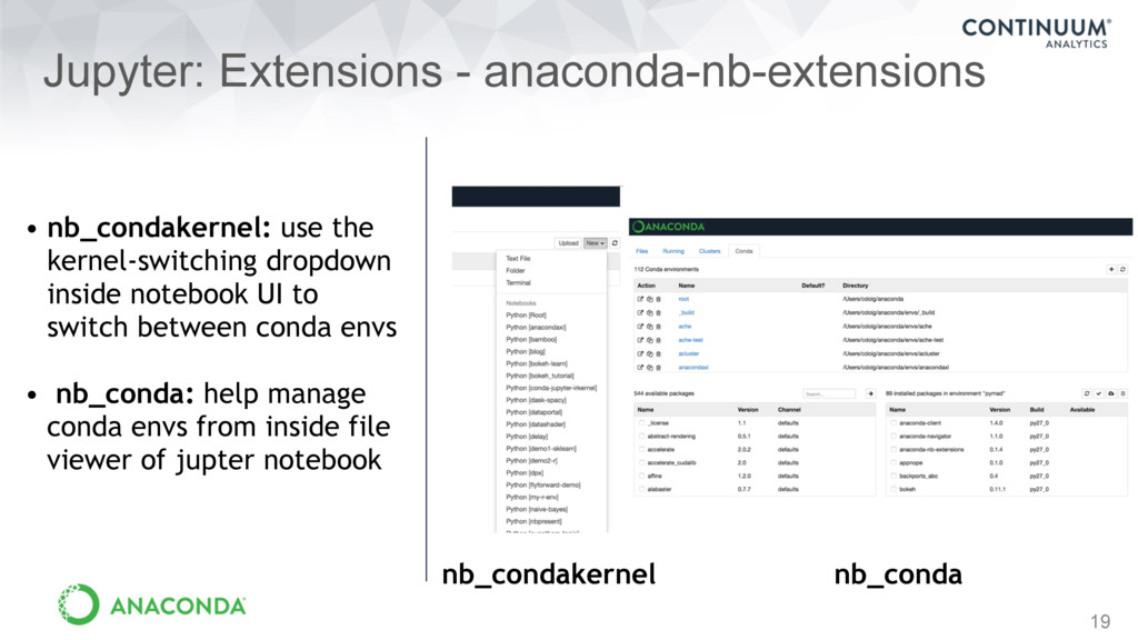 19 Jupyter: Extensions - anaconda-nb-extensions...