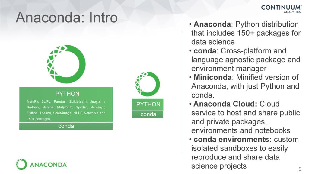 9 Anaconda: Intro PYTHON NumPy, SciPy, Pandas, ...