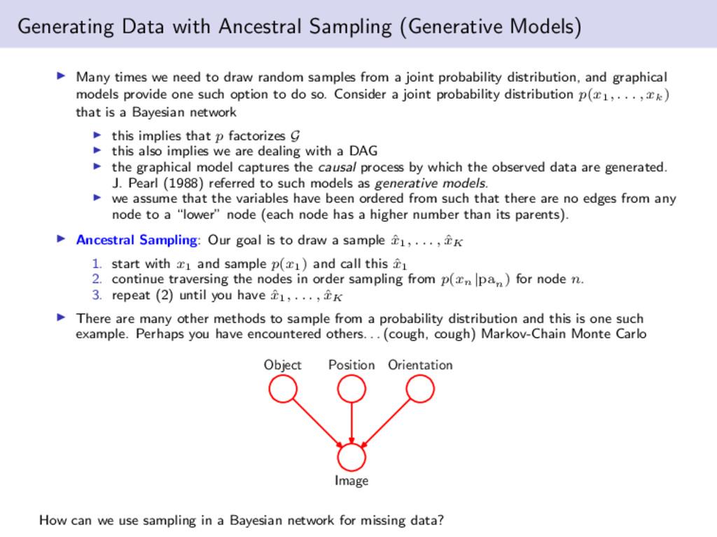 Generating Data with Ancestral Sampling (Genera...