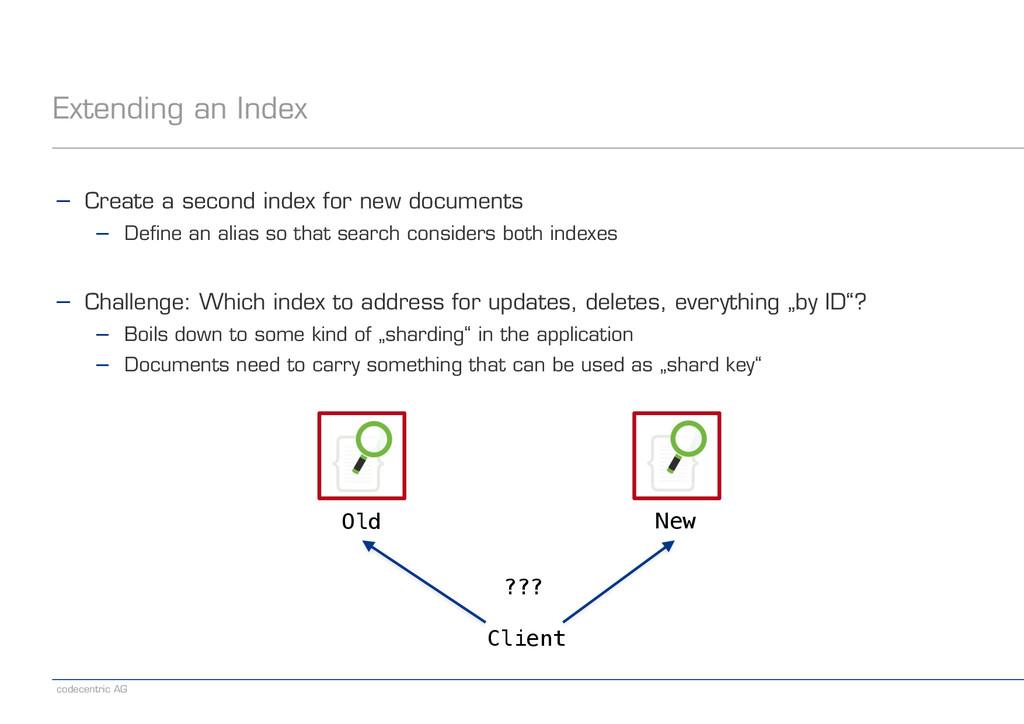 codecentric AG Extending an Index − Create a se...