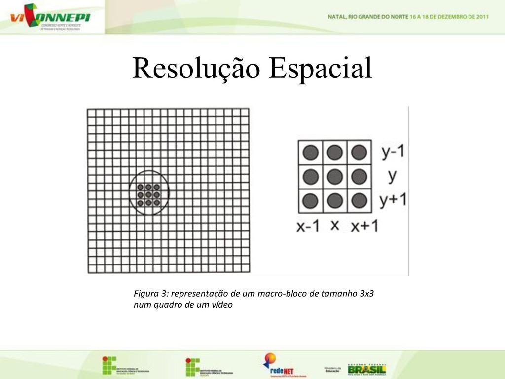 Resolução Espacial Figura 3: representação de u...