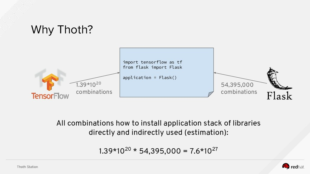 Thoth Station Why Thoth? import tensorflow as t...