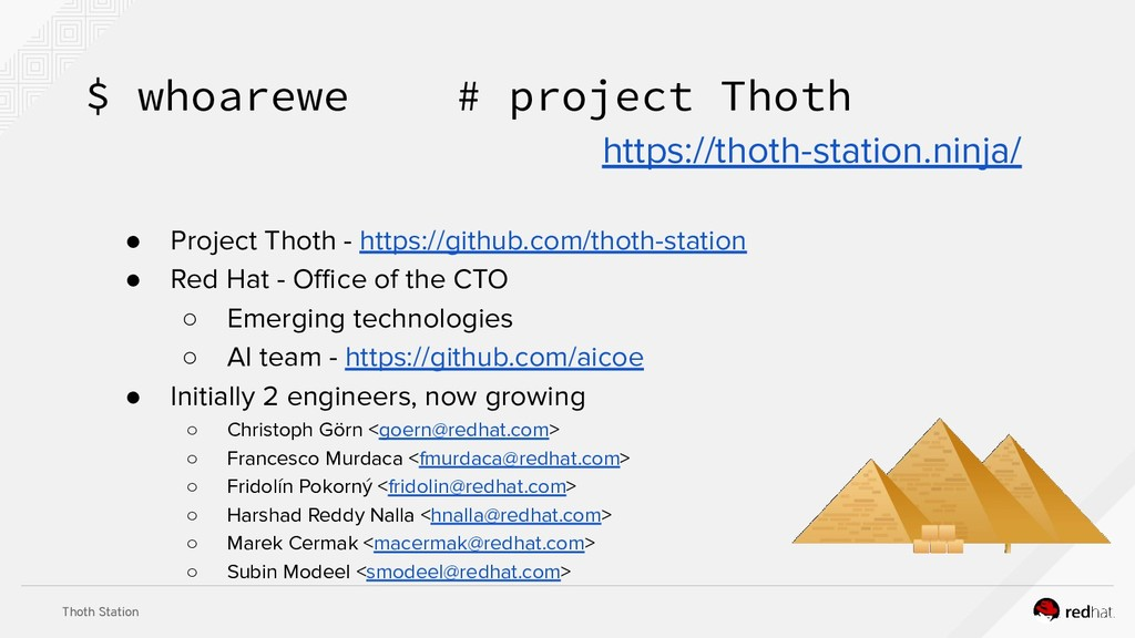 Thoth Station ● Project Thoth - https://github....