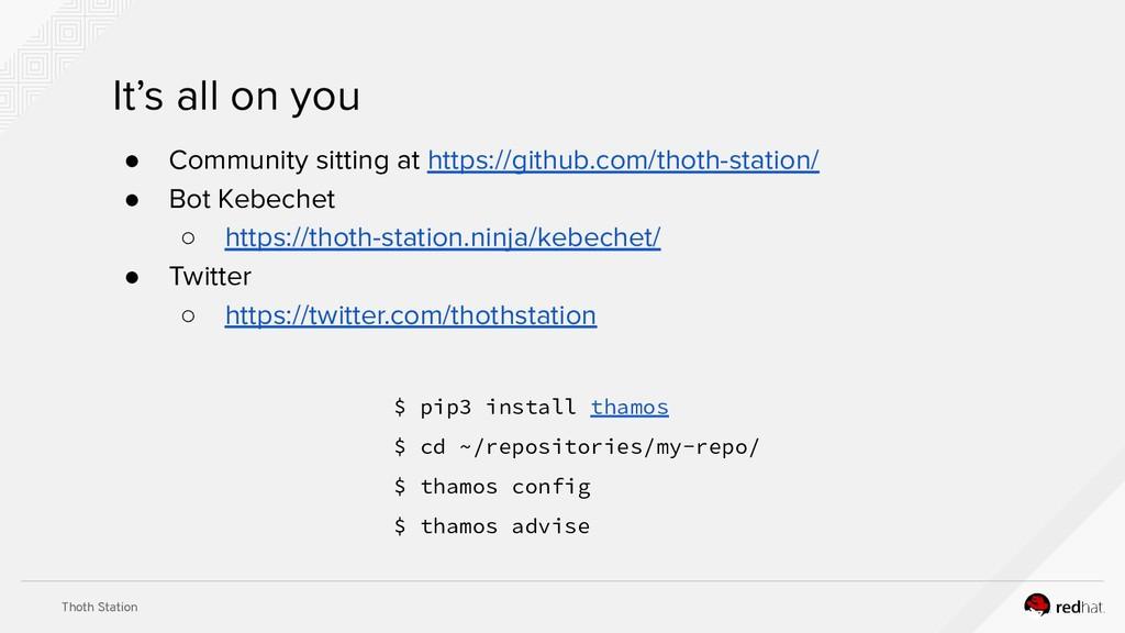 Thoth Station ● Community sitting at https://gi...