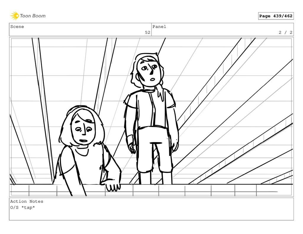 Scene 52 Panel 2 / 2 Action Notes O/S *tap* Pag...