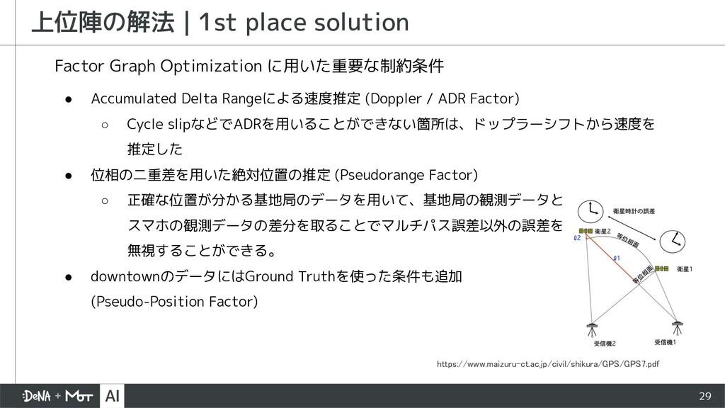 29 上位陣の解法   1st place solution ● Accumulated De...