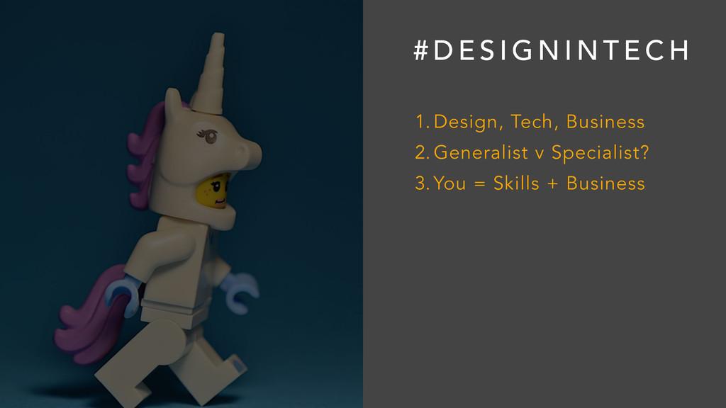 # D E S I G N I N T E C H 1. Design, Tech, Busi...