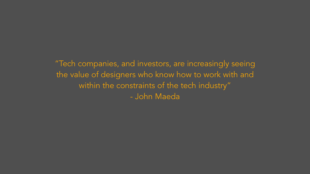 """""""Tech companies, and investors, are increasingl..."""