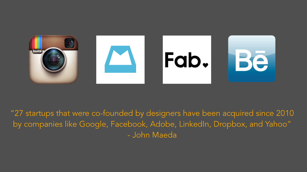 """""""27 startups that were co-founded by designers ..."""