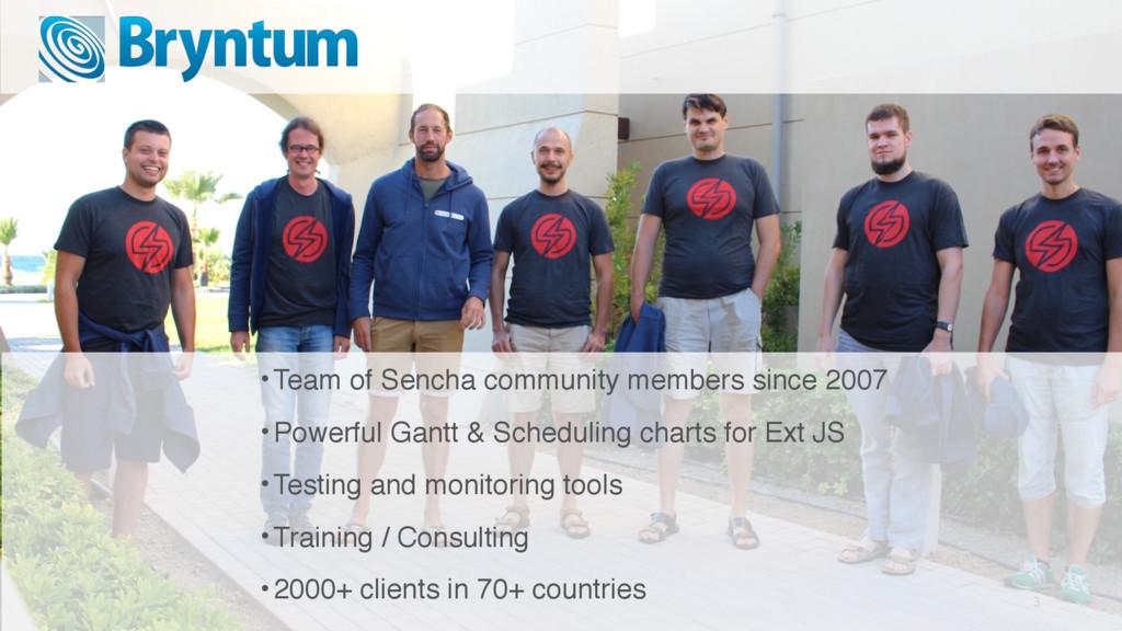 3 •Team of Sencha community members since 2007 ...