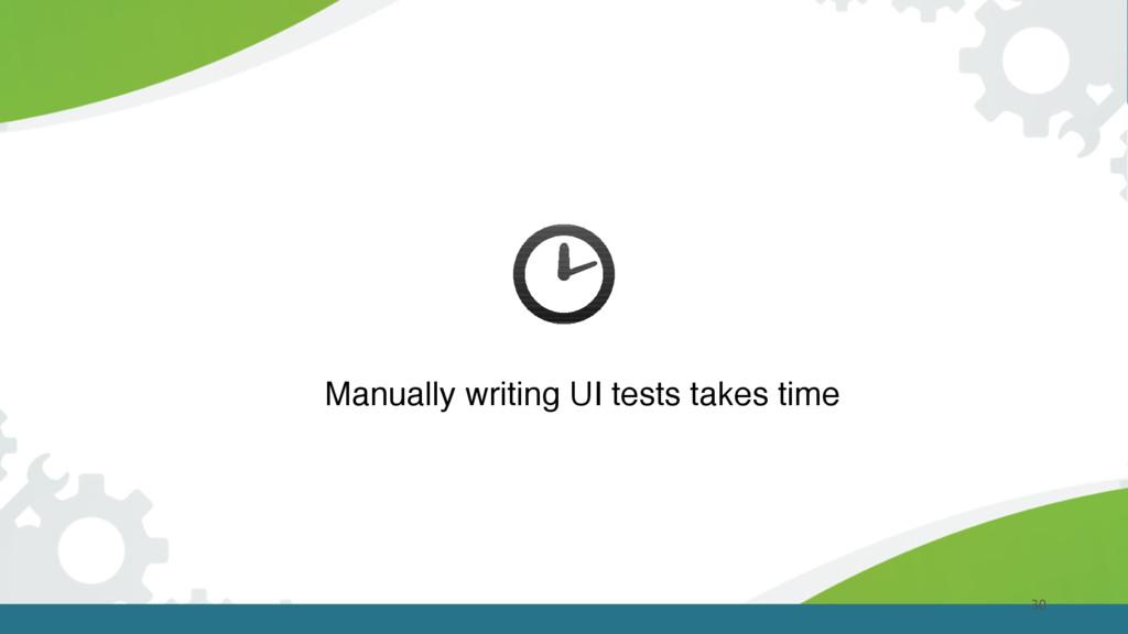 30 Manually writing UI tests takes time