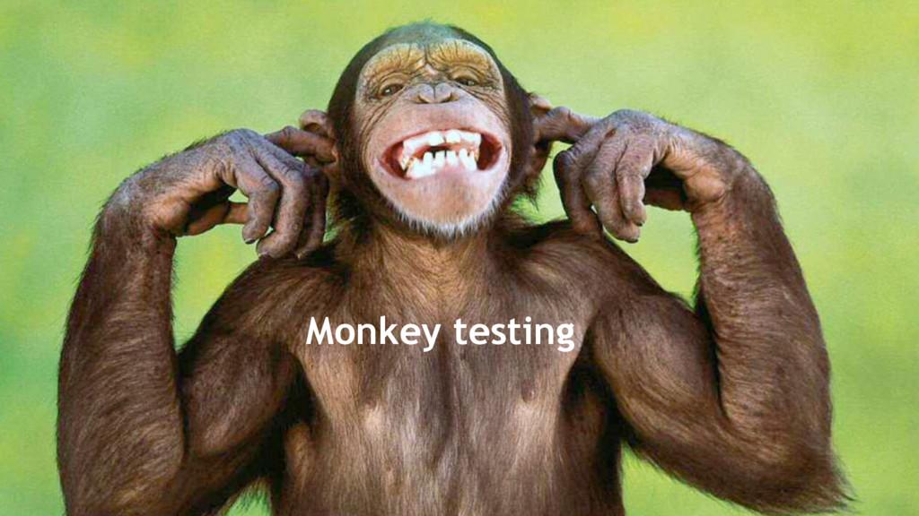 49 Monkey testing