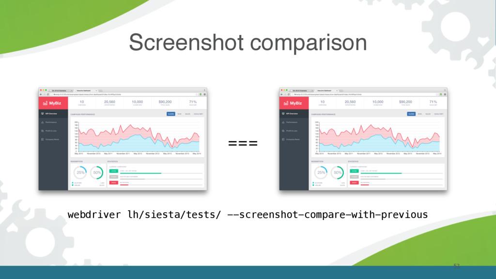 53 Screenshot comparison webdriver lh/siesta/te...