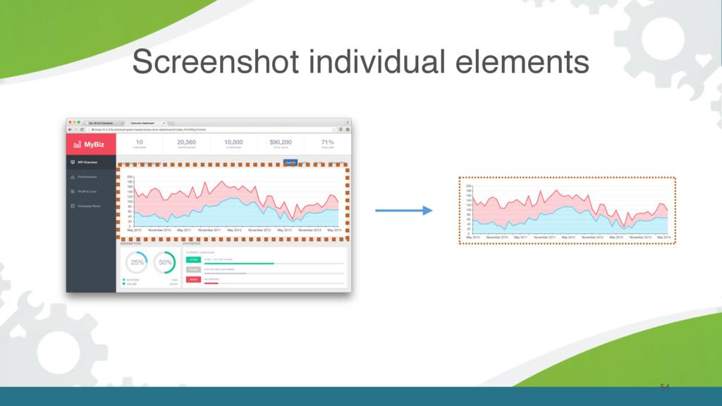 54 Screenshot individual elements