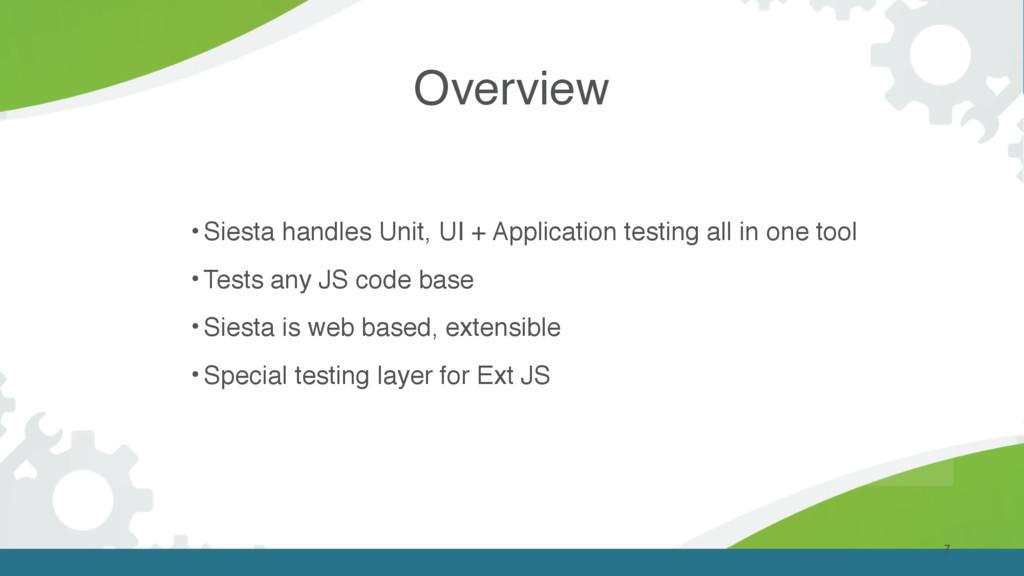 7 • Siesta handles Unit, UI + Application testi...