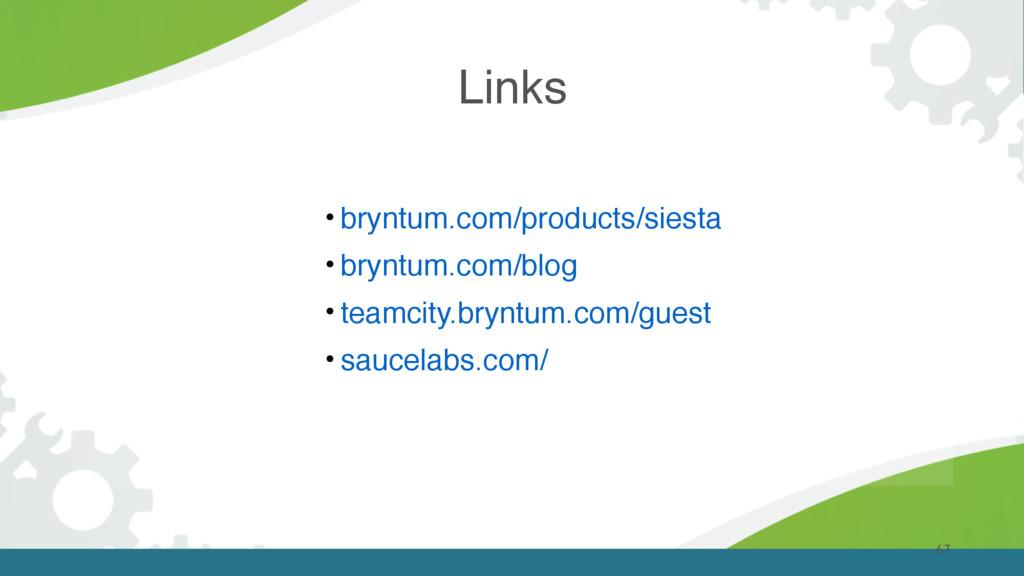 Links 67 • bryntum.com/products/siesta • bryntu...